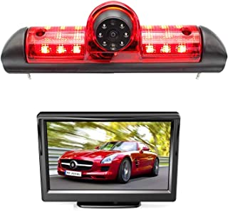 HD 720p Dachkante Einparkhilfe Rückfahrkamera integriert in 3. Bremsleuchte Kamera für Fiat Ducato Citroen Jumper Relay Peugeot Boxer 2006 2019+5.0' Zoll DVD Monitor TFT Bildschirm LKW KFZ LCD Display