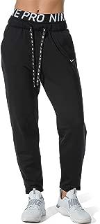 Nike Women's Therma Fleece Training Pants - Black/White, X-Small