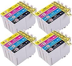 PerfectPrint - 16 PerfectPrint Compatible Tinta Cartucho Reemplazar T1281 T1282 T1283 T1284 Para Epson Stylus S22 SX125 SX130 SX420W SX425W SX445W BX305F BX305FW SX230 SX235W SX445W SX435W SX430W SX438W SX440W Impresoras
