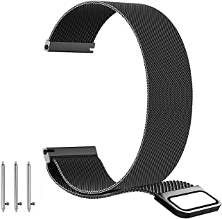 BarRan Replacement Watch Band for Samsung Galaxy Watch (42mm)/ SM-R810/ SM-R815/ Galaxy Watch Active, 20mm Milanese loop mesh Quick Release Magnetic Clasp Stainless Steel Replacement Watch Strap