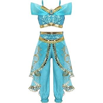 iiniim Disfraz Princesa para Niña Ropa de Danza del Vientre India ...