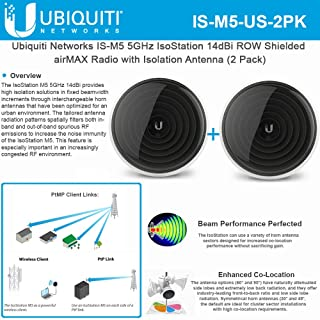 IsoStation M5 IS-M5-US Shielded Airmax CPE 5GHz 14dBi Row Radio Isolation Antenna (2Pack)