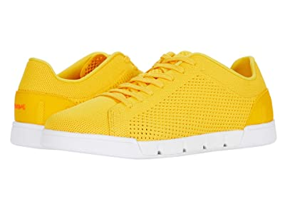 SWIMS Breeze Tennis Knit Sneakers (Gold Fusion/White) Men