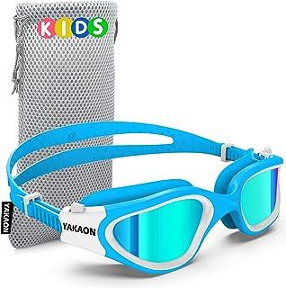 Kids Swim Goggles, YAKAON Polarized Swimming Goggles for Kids Age 6-14