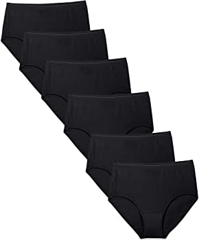 6-Pack Fruit of the Loom Women's Tag Free Cotton Brief Panties