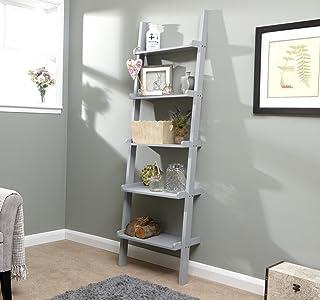 Home Source Regał na książki z 5 półkami nowoczesny dek