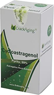 Super-Absorption Cycloastragenol 98% from Crackaging 5mg 120capsules (Anti-Aging & Telomere Supplements)