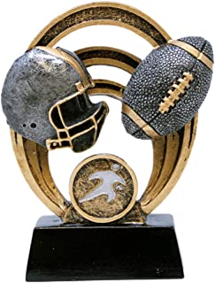Decade Awards Football Halo Trophy - Gridiron Award - 5 Inch Tall - Engraved Plate on Request