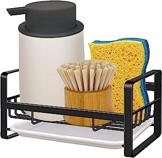 Kitchen Sink Caddy Sponge Holder - VANTEN Sink Caddy Organizer, Sponge Holder for Sink, Sink Tray Drainer Rack, Soap Dish ...