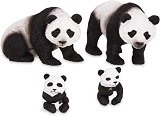 Terra by Battat – Giant Panda Family – Small Panda Bear Animal Toys for Kids 3-Years-Old & Up (4 Pc)