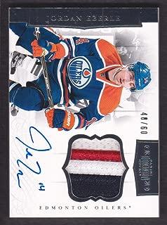 2011-12 Dominion Patches Autograph #34 Jordan Eberle Auto Patch 48/60 Oilers