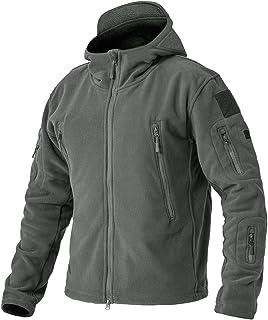 EKLENTSON Men's Military Fleece Jackets Zip Up Hoodies Windbreakers Warm Hiking Camping Hunting Taatiacl Winter Coats with...