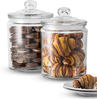Best clear glass candy jars with lids Reviews