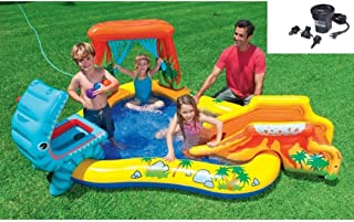 Intex 95in x 75in x 43in Dinosaur Play Center Kids Swimming Pool + Air Pump