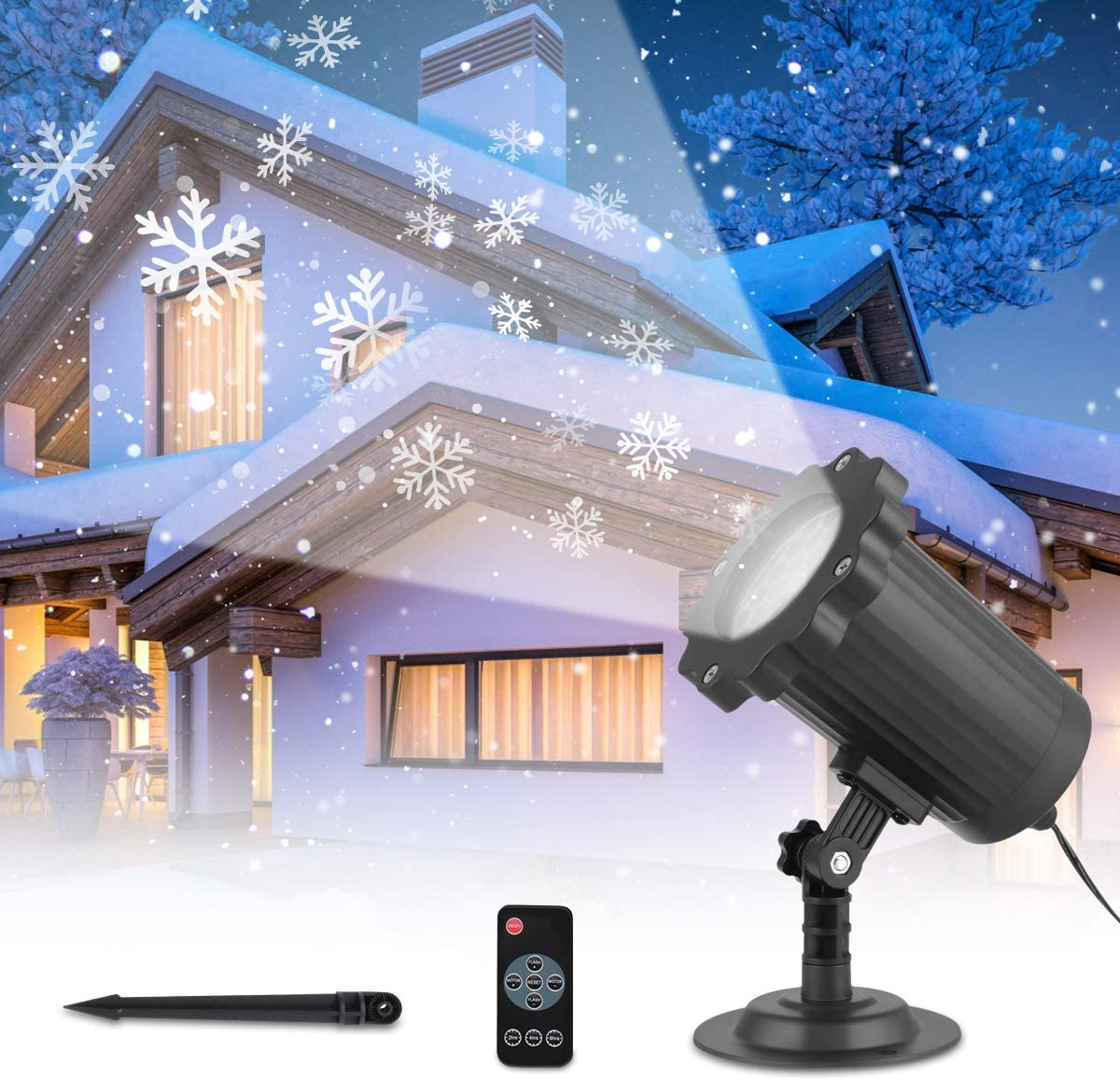 Snowflake Projector Light Outdoor Remote with Control Reservation Lowest price challenge Wireless
