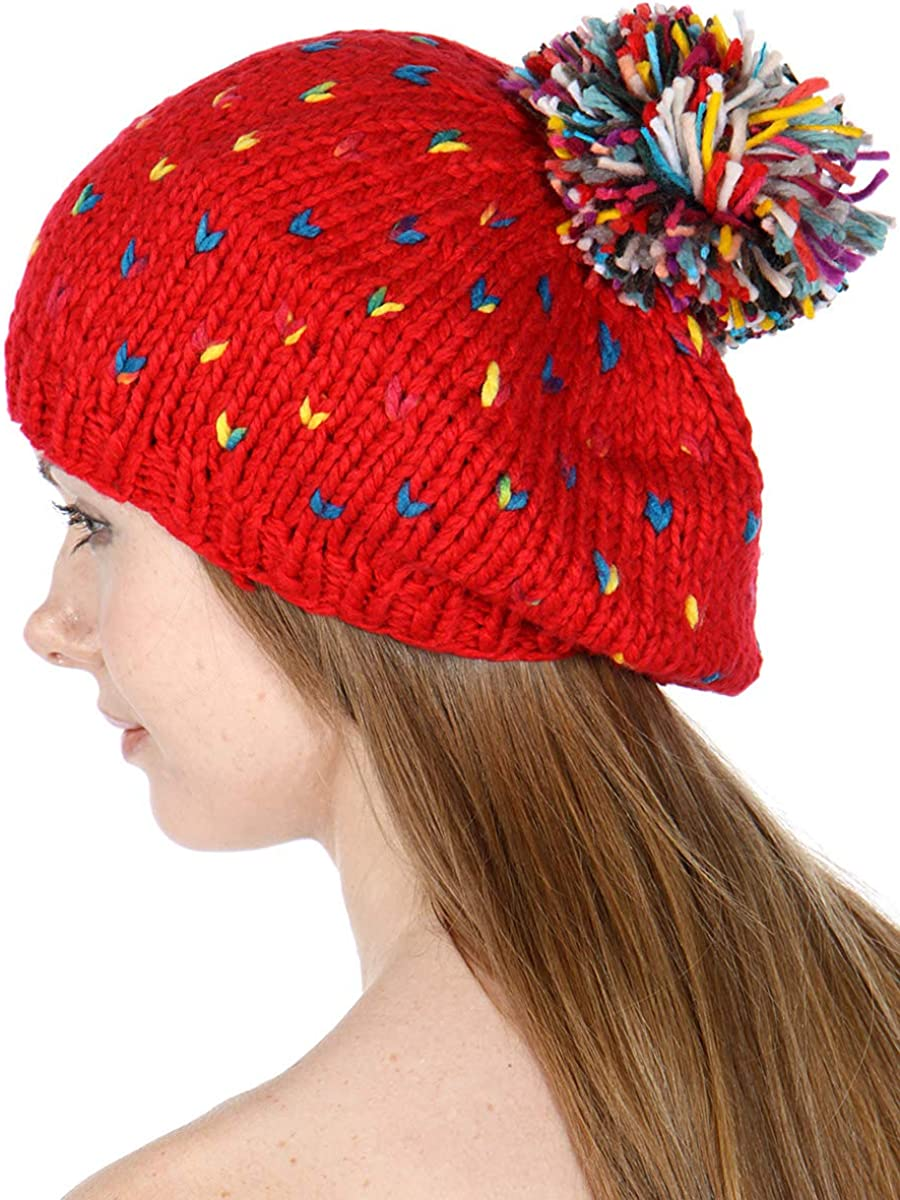 SERENITA Knit Cheap mail order sales Pom 40% OFF Cheap Sale Beanie Winter Warm Hat Cable Sk Soft