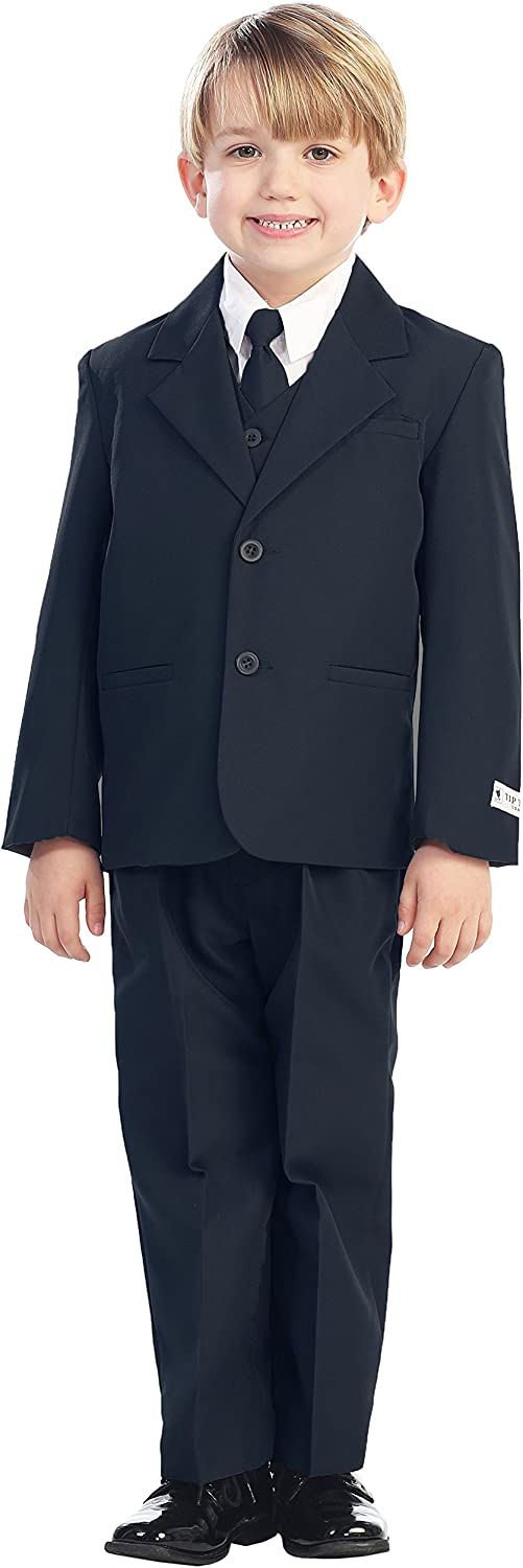 2021 spring and summer new 5-Piece Boy's 2-Button Dress Suit - Black Colors: Ivory 5 Sacramento Mall White
