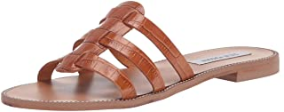 Steve Madden Women's Tammey Sandal, Cognac Leather, 7.5 M US