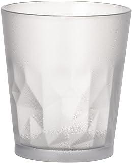 プラキラ(Plakira) タンブラー クラッシュ すりガラス調 クリア 250ml 直径8×高さ9cm 割れないグラス トライタン 食洗機対応 耐熱100度 子供にも安心 アウトドア うがいコップ 日本製 PG104S-250CL