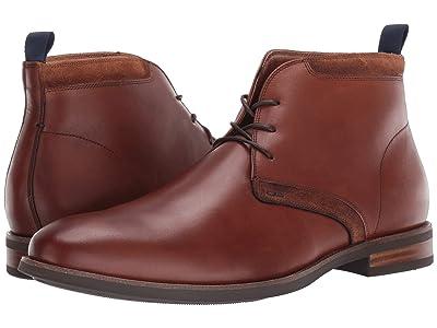 Florsheim Uptown Plain Toe Chukka Boot (Cognac Leather/Suede) Men