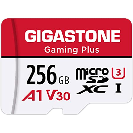 Gigastone 256GB Micro SD Card, Gaming Plus, Nintendo-Switch Compatible, High Speed 100MB/s, 4K Video Recording, Micro SDXC UHS-I, A1 Run App, Class 10
