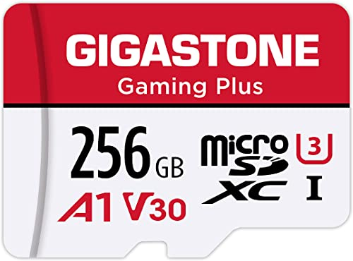 Gigastone 256GB Micro SD Card, Gaming Plus, MicroSDXC Memory Card for Nintendo-Switch, 100MB/s, 4K Video Recording, A...
