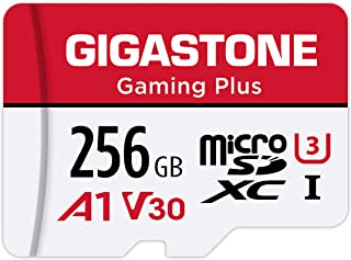 Gigastone 256GB Micro SD Card, Gaming Plus, MicroSDXC Memory Card for Nintendo-Switch, 100MB/s, 4K Video Recording, Action...