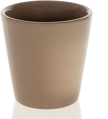 Dicksons Those We Love Taupe 3.5 x 3 Terra Cotta Ceramic Garden Flower Pot