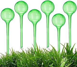 BETOY, set di 6 sfere per irrigazione dosata, 2 settimane, retrattile, in plastica, trasparente, in PVC, per giardino, cas...
