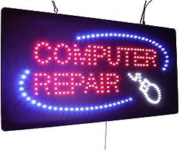 computer repair neon sign