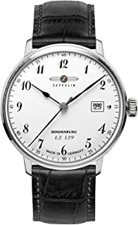 ツェッペリン ZEPPELIN 腕時計 7046-1 ヒンデンブルク クォーツ 40mm レザーベルト [並行輸入品]
