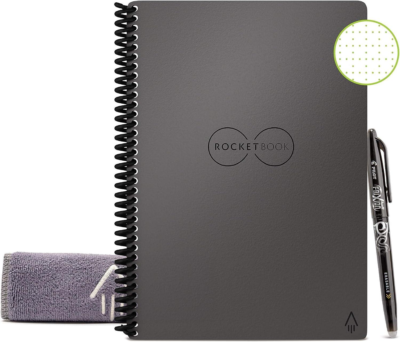 Cuaderno Rocketbook Reusable Por Siempre 15 x 22 cm gris