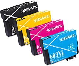 Wewant 603XL Cartuchos de Tinta Reemplazo para Epson 603 XL Multipack Compatible con Epson Expression Home XP-2100 XP-2105 XP-3100 XP-3105 XP-4100 XP-4105 WorkForce WF-2810 WF-2830 WF-2835 WF-2850