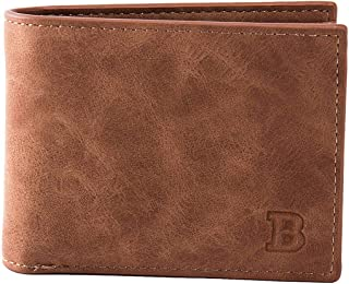 Elenxs Men Durable PU Card Holder Money Wallet Blocking Slim Coin Pocket Business Sports Casual Purse