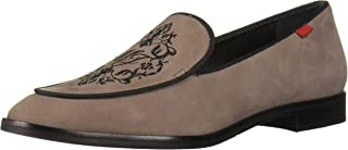 MARC JOSEPH NEW YORK Womens Genuine Leather Smoking Loafer with Embroidery Detail