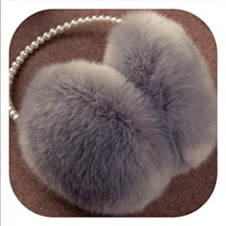 2019 Pearl Winter Earmuff Imitation Rabbit Women Fur Earmuffs Winter Ear Warmers Large Plush Warm Earmuffs Ear Package Brand,B