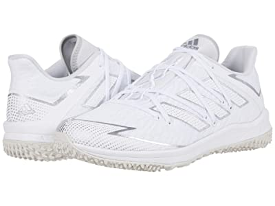 adidas Adizero Afterburner Turf (Footwear White/Silver Metallic/Grey One) Men