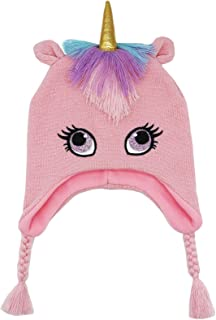 قبعة شتوية للأطفال الأولاد والبنات الصغار يونيكورن نيت قبعة ترفرف الأذن قبعة دافئة من الصوف للأطفال الصغار