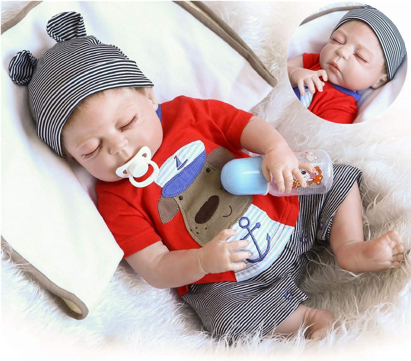 Reborn Max 40% OFF Baby Dolls Boys Sleeping 22 Award Inch Silicone Full Body Vinyl