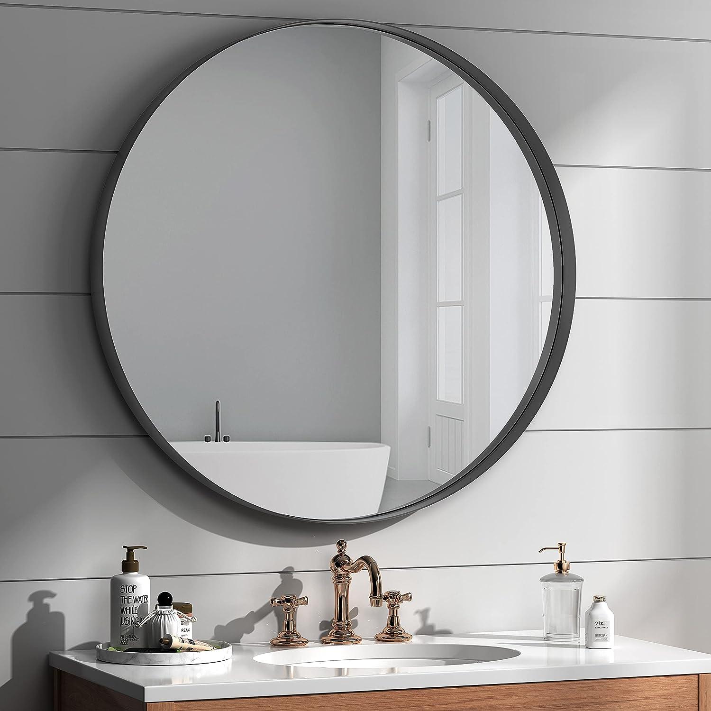 NXHOME Circle Metal-Frame Wall Max 76% wholesale OFF Bathroom Decorative Mirror -