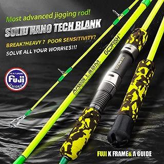 GOOFISH Solid Nano Tech Fuji Speed Jigging Rod 165cm Size PE 1-4(25-65lbs) ML Action Power 20kg