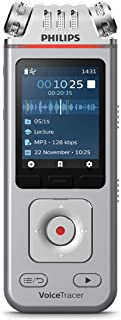 Philips Voicetracer Audio Recorder for Lectures And Interviews DVT4110, 8GB, Smartphone-App (Androis/Ios)