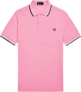 1f5b38f6b Fred Perry Men s Twin Tipped Polo Shirt M3600 F50 Pink