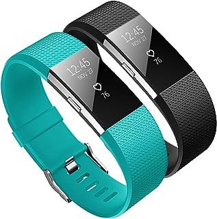 4093a7c65 Kutop Compatible para Fitbit Charge 2 Correa, Charge 2 TPU Silicona Pulsera  Sports Reemplazo de