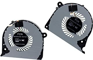 Deal4GO CPU Cooling Fan DFS2000054H0T FJQS w/GPU Cooler Fan DFS541105FC0T FKJF for Dell Inspiron 15 7577 7588 G5-5587 G7-7...