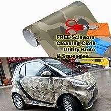 M J-AUTOPARTS Army Camo Camouflage Desert Vinyl Film Wrap Sticker Bubble Free Air Release + Free Tool Kit (108
