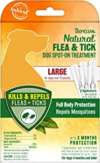TropiClean Natural Flea & Tick Spot-On Treatment