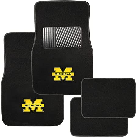 FANMATS 17603 Michigan State 2-Piece Embroidered Car Mat,Team Color,17 x 25.5
