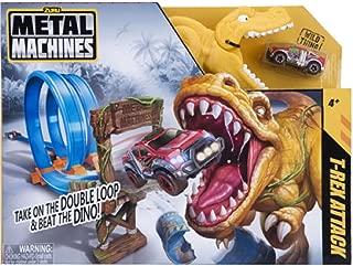 ZURU Metal Machines Dino Demolition Track Set - w/ T-Ranger Monster Truck, T-Rex and Accessories - 15.75