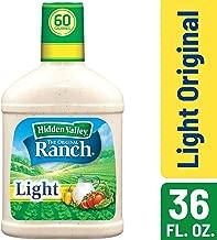Hidden Valley Original Ranch Light Salad Dressing & Topping, Gluten Free, Keto-friendly - 36 Ounce Bottle